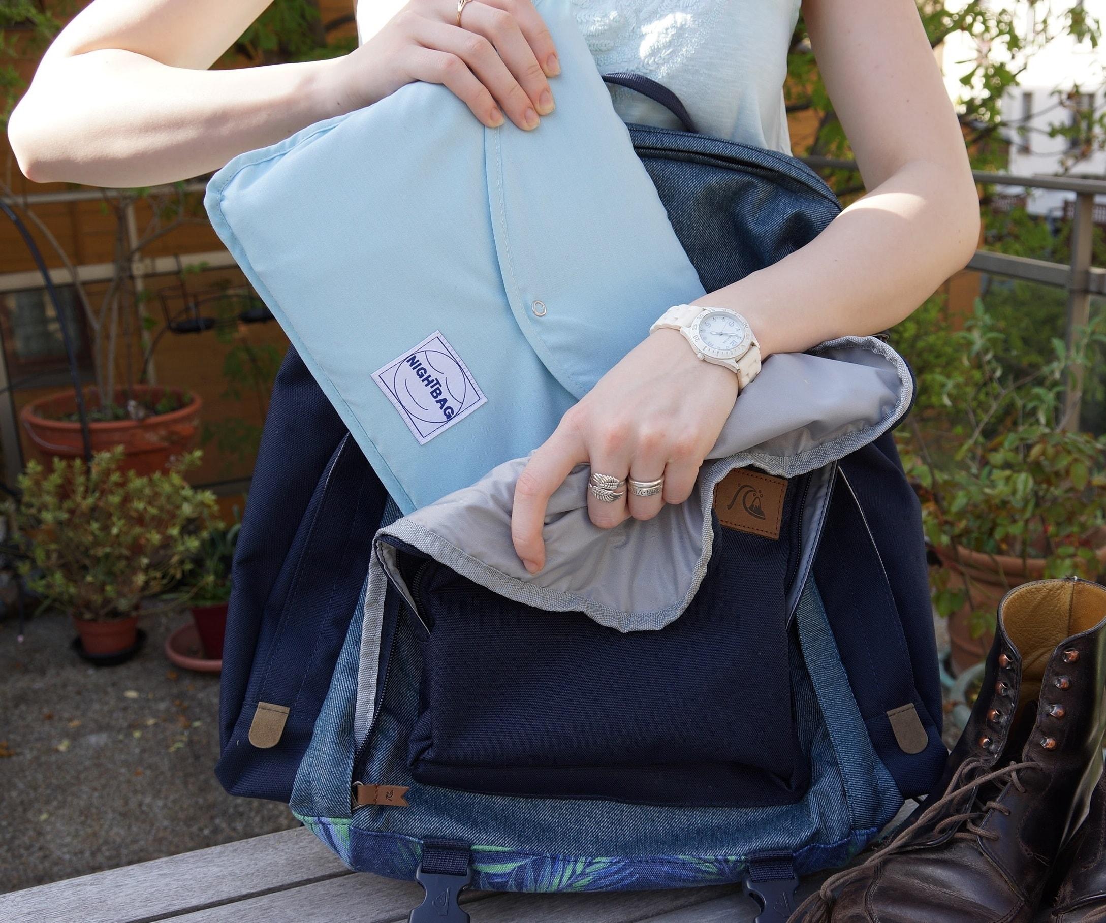 Nightbag celadon et sac à dos min jpeg min