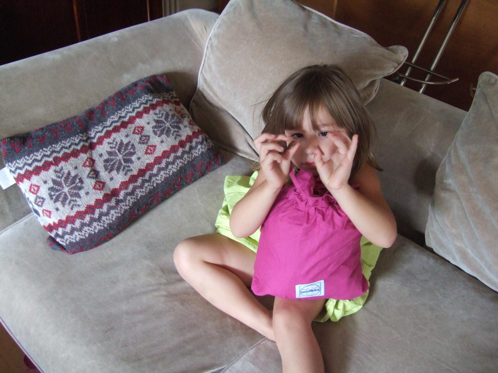 Nightbag junior rose et petite fille
