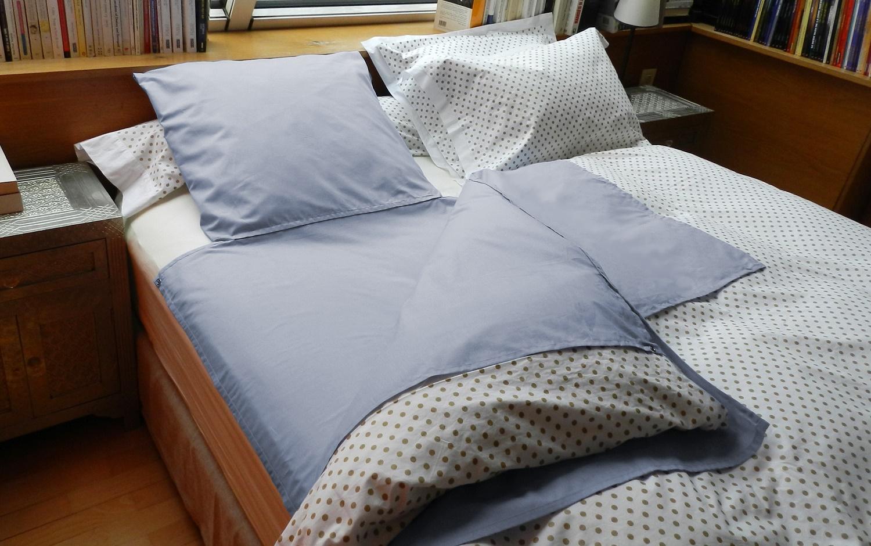 nightbag 1 place dans lit 2 places gris bleute