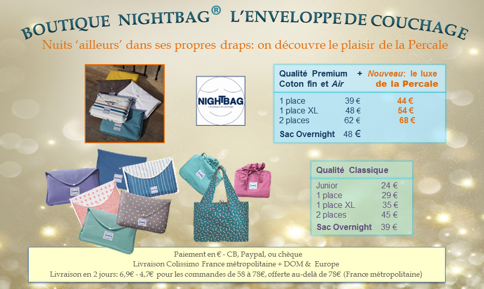 boutique nightbag 29 Oct au 20 Nov 20