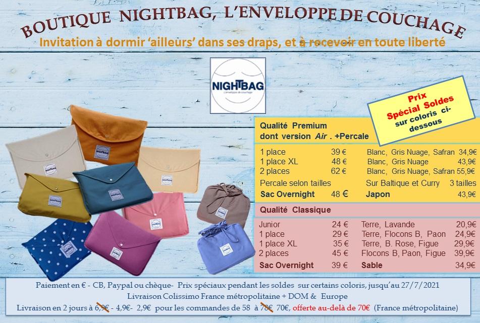 boutique nightbag soldes 30 6 2021 été