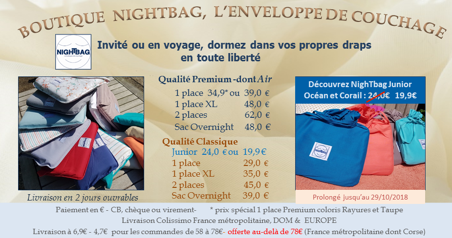 boutique nightbag 10 2018 promo junior et special premium
