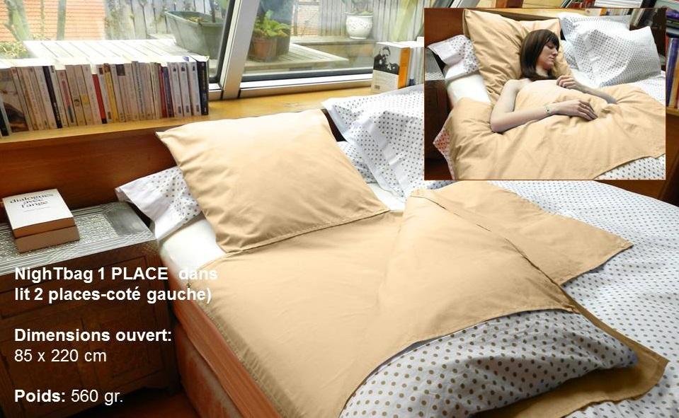 dormeuse nightbag premium solo colori sable